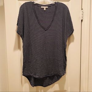 Express One Eleven Striped Dolman Top